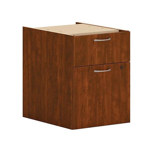 "HON Mod Hanging Pedestal | 1 Box / 1 File Drawer | 15""W | Russet Cherry Finish"