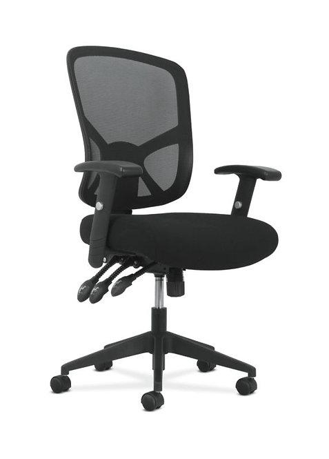 Sadie High-Back Task Chair   Height-Adjustable Arms   Height-Adjustable Back