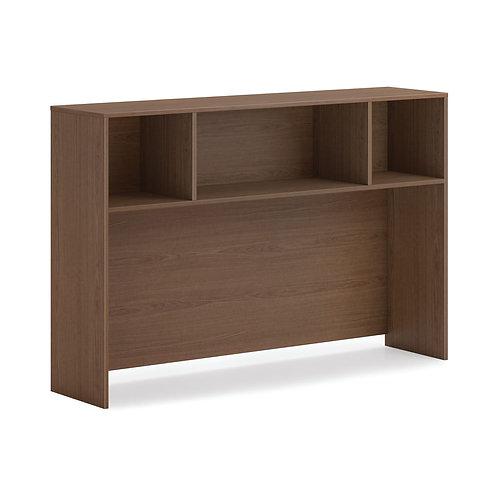 "HON Mod Desk Hutch | No Doors | 60""W | Sepia Walnut Finish"