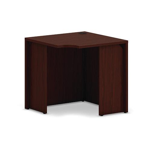 "HON Mod Corner Desk Shell   30""W   Traditional Mahogany Finish"