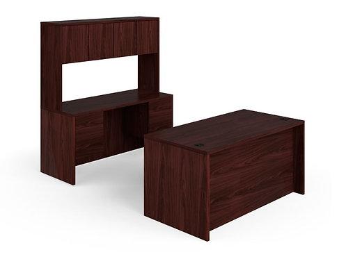 HON 10500 Series Laminate Compact Workstation | Desk, Credenza, Hutch