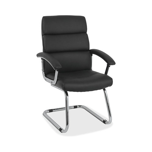 HON Traction Modern Guest Chair   Black SofThread Leather