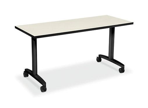 "HON Huddle Table Top | Fixed Base | 60""""W x 24""""D"