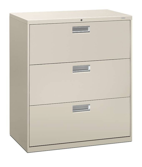 "HON Brigade 600 Series Lateral File | 3 Drawers | 36""W x 18""D"