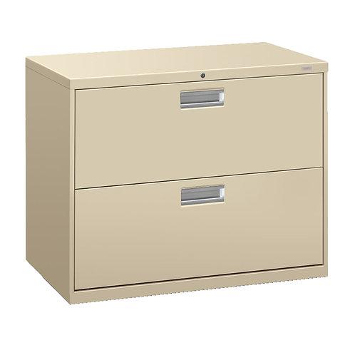 "HON Brigade 600 Series Lateral File | 2 Drawers | Aluminum Pull | 36""W"