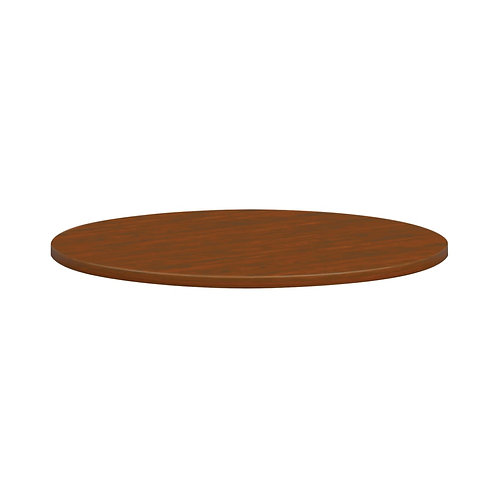 """HON Mod Conference Table Top   Round   36"""" Diameter   Russet Cherry Finish"""