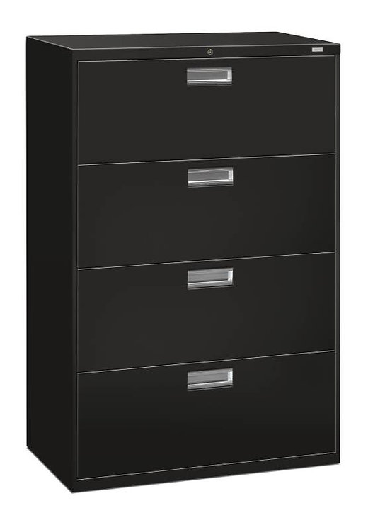 """HON Brigade 600 Series Lateral File   4 Drawers   36""""W x 18""""D"""