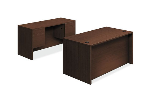 "HON 10500 Series Double Pedestal Desk / Credenza | 4 Box / 4 File Drawers | 60""W"