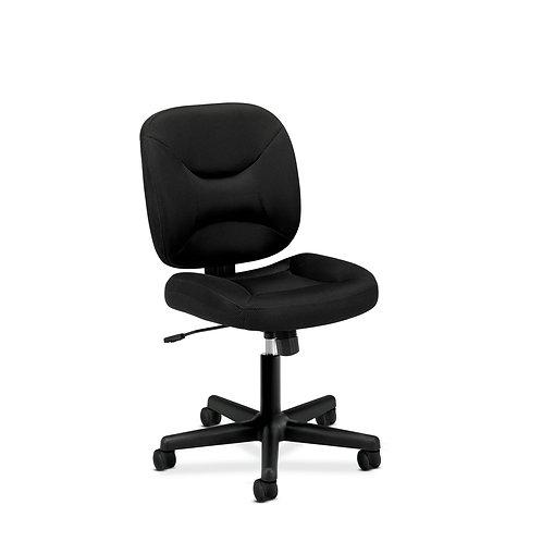 HON ValuTask Low-Back Task Chair | Center-Tilt | Black Sandwich Mesh
