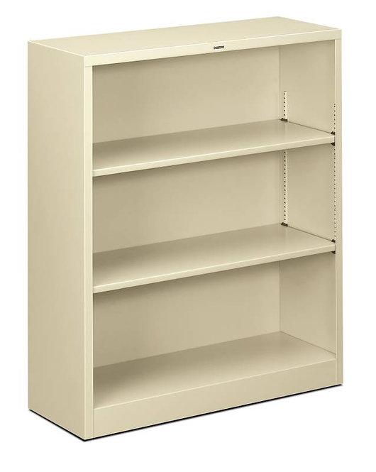 "HON Brigade Steel Bookcase | 3 Shelves | 34 1/2""W x 12 5/8""D"