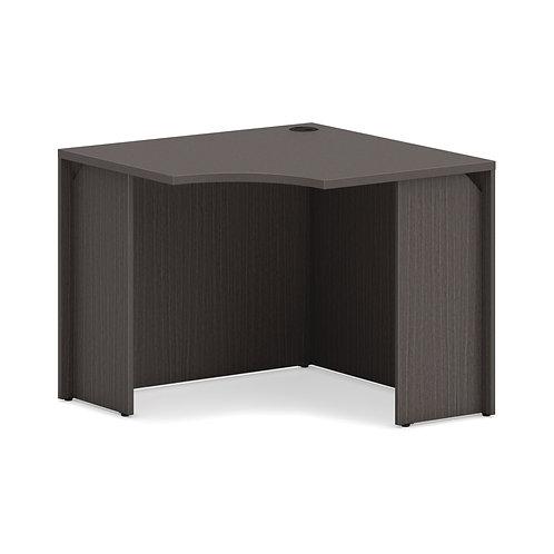 "HON Mod Corner Desk Shell | 36""W | Slate Teak Finish"