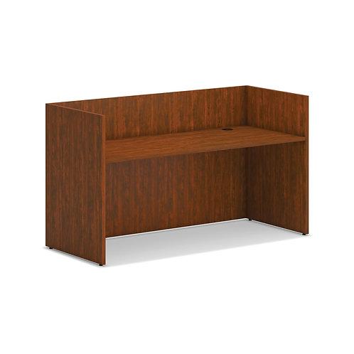 "HON Mod Reception Desk Shell | 72""W | Russet Cherry Finish"