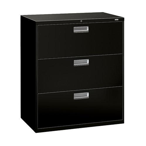 "HON Brigade 600 Series Lateral File | 3 Drawers | Aluminum Pull | 36""W"