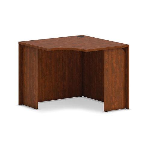 "HON Mod Corner Desk Shell | 36""W | Russet Cherry Finish"
