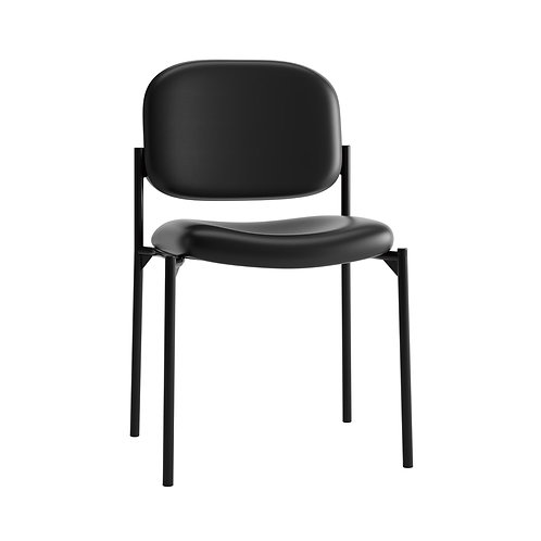 HON Scatter Stacking Guest Chair   Black SofThread Leather