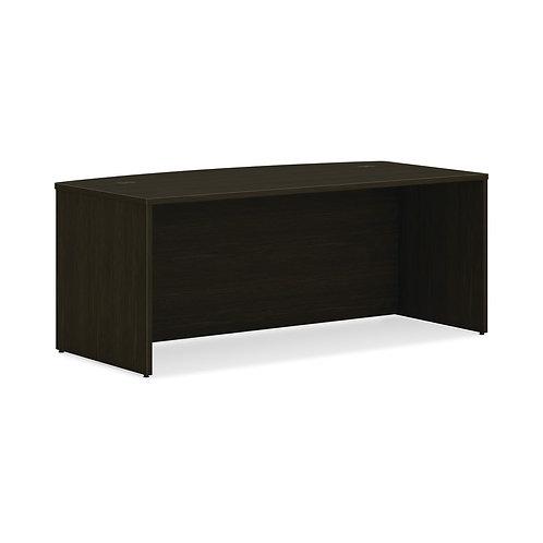 "HON Mod Desk | Bow Front | 72""W | Java Oak Finish"