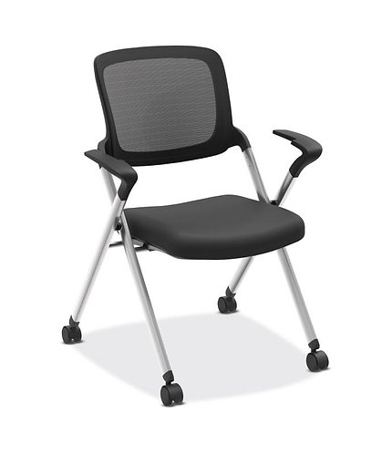 HON Assemble Mesh Back Nesting / Stacking Chair | Fixed Arms | Two Per Carton
