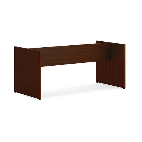 """HON Mod Slab Base   For 96"""" Conference Table Top   Traditional Mahogany Finish"""