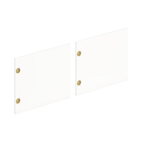 "HON Mod Laminate Doors   Set of 2   72""W   Simply White Finish"