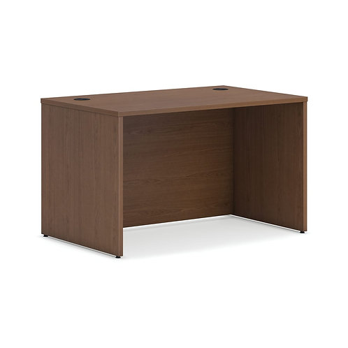 "HON Mod Desk Shell   48""W   Sepia Walnut Finish"