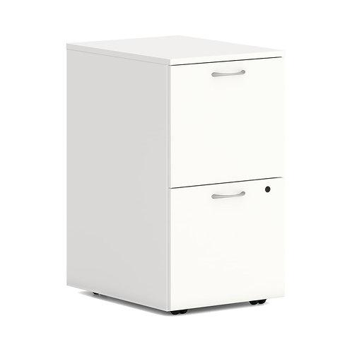 "HON Mod Mobile Pedestal | 2 File Drawers | 15""W | Simply White Finish"