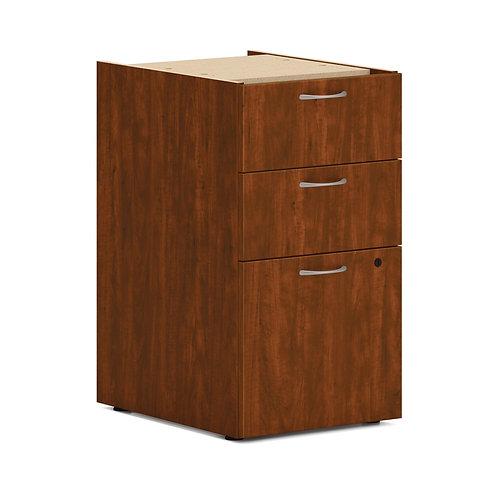 "HON Mod Support Pedestal | 2 Box / 1 File Drawer | 15""W | Russet Cherry Finish"