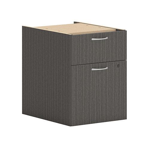 "HON Mod Hanging Pedestal   1 Box / 1 File Drawer   15""W   Slate Teak Finish"