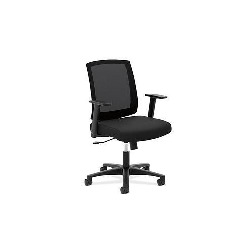HON Mesh Mid-Back Task Chair   Center-Tilt, Tension, Lock   Fixed Arms