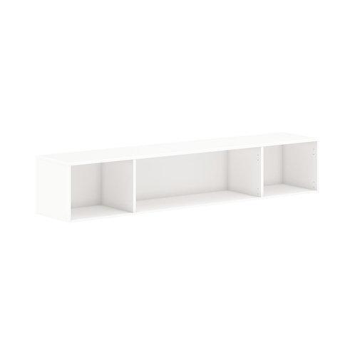 "HON Mod Wall Mounted Storage | Open | 72""W | Simply White Finish"