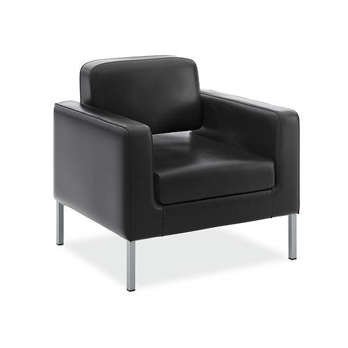 HON Corral Club Chair   Black SofThread Leather