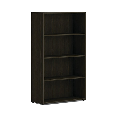 "HON Mod Bookcase   4 Shelves   30""W   Java Oak Finish"