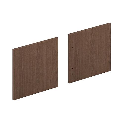 "HON Mod Laminate Doors   Set of 3   48""W   Sepia Walnut Finish"
