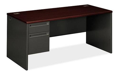 "HON 38000 Series Pedestal Desk | 1 Box / 1 File Drawer | Left |66""W"