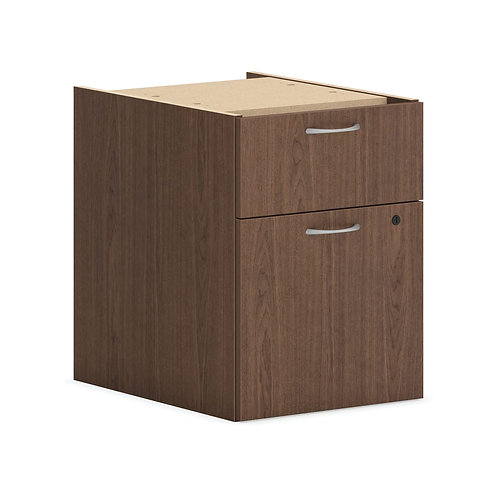 "HON Mod Hanging Pedestal | 1 Box / 1 File Drawer | 15""W | Sepia Walnut Finish"