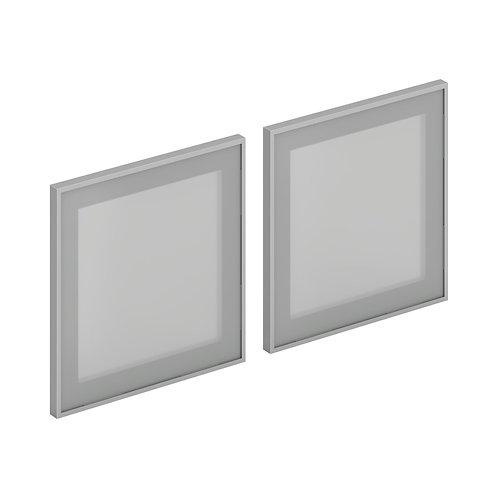HON Mod Frosted Glass Doors   Set of 2   For HLPLDH60 & HLPLWMH60