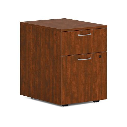 "HON Mod Mobile Pedestal   1 Box / 1 File Drawer   15""W   Russet Cherry Finish"