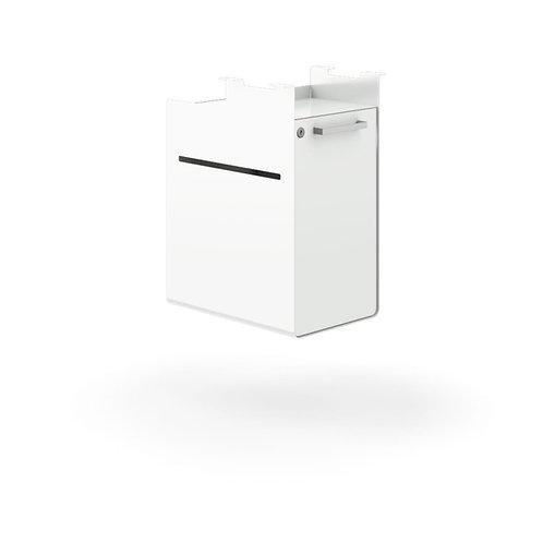 "HON Fuse Undermount Storage Cubby   Right-Handed   Lockable Door   15-1/2""D"