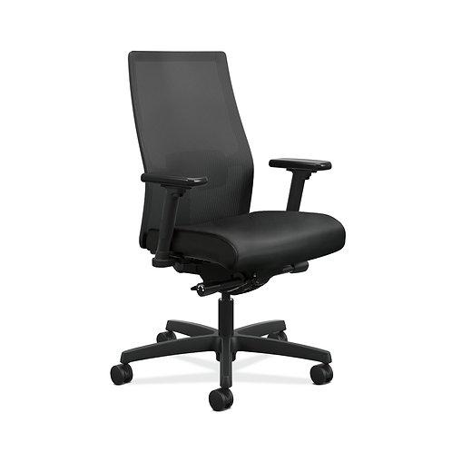 HON Ignition 2.0 Mid-Back Task Chair | Black 4-way stretch Mesh Back