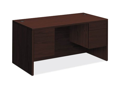 "HON 10500 Series Double Pedestal Desk | 2 Box / 2 File Drawers | 60""W"