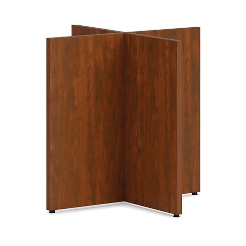 """HON Mod X-Base   For 48"""" Conference Table Top   Russet Cherry Finish"""