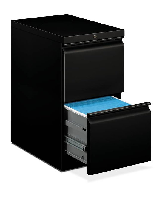 "HON Brigade Pedestal | Standard Height | Mobile | 2 File Drawers | 22 7/8""D"