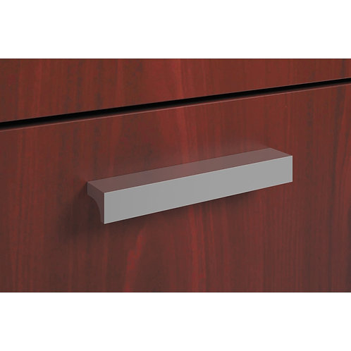 HON Foundation Series Field Installed Contemporary Pull   Silver   2-Pack