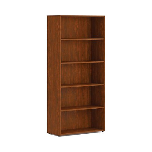 "HON Mod Bookcase | 5 Shelves | 30""W | Russet Cherry Finish"