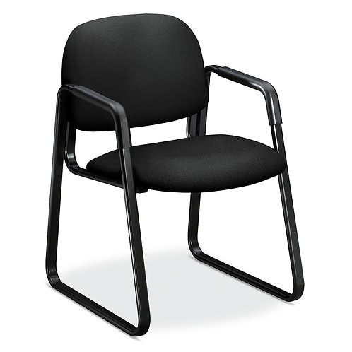 HON Solutions Seating Guest Chair | Sled Base | Black Fabric