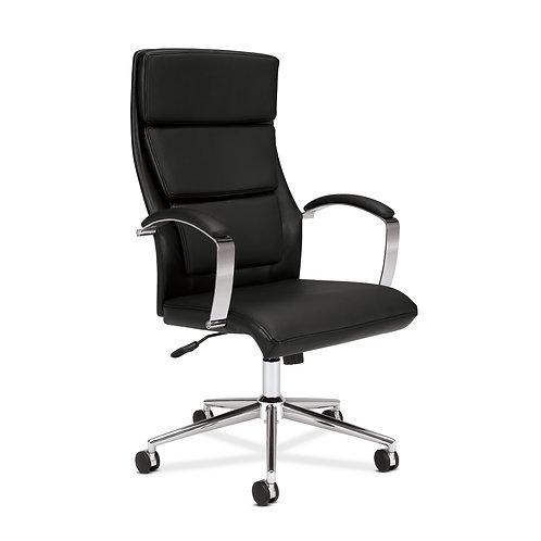 HON High-Back Executive Chair | Center-Tilt | Polished Aluminum