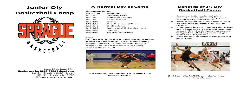 Junior Oly Basketball Camp Brochure (201