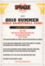 2019 Sprague Youth Girls Basketball Camp