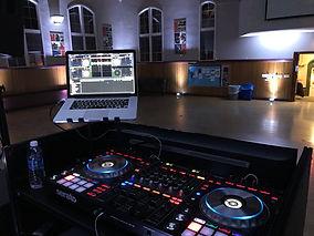 DJ POV (Wells College) White uplighting.
