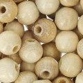 Perles en bois naturel