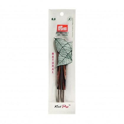 Pointes d'aiguilles circulaires interchangeables Knit Pro natural n°6 à n°8